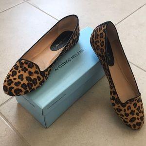 ANTONIO MELANI Shoes - Faux hair leopard flats